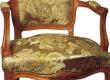 antiikse uus, neo rokokoo tool. Restaureeritud istmeosa vedruseotis, mereheinapadi istmeosal, seljataga, käetugedel