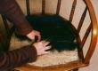 mööblipolstri tugitoolipõhja nööraasadesse hobujõhv toppimine, paigaldamine