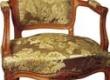 restaureeritud puiduosa ja keerdvedrude, mereheina, mererohu polstriga rokokoo tugitool