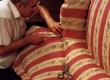 diivani antiik polstri seljataguse katmine pealiskangaga