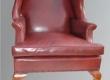 Restaureeritud puiduosa ja antiikpolstriga Kuninganna Anna stiilis Wingback
