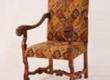 Restaureeritud puiduosa ja antiikpolstriga neo renessanss tugitoolid
