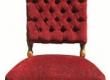 Restaureeritud puiduosa ja antiikpolstriga tool, seljatagune sügav volditud nööpidega