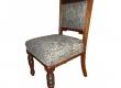 Restaureeritud puiduosa ja antiikpolstriga tool ca. 1880. aastast
