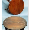 antiikne laud 19saj. enne ja pärast restaureerimist