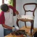 uus, neo rokokoo tooli istmepolstri valmistamine