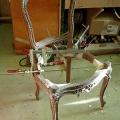 uus, neo rokokoo tooli karkassi liimimine