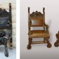 uus, neo renessanss tool, tugitool enne ja pärast restaureerimist