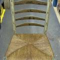 taastatud istmeosa punutisega tool
