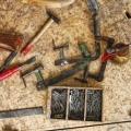 restauraatori tööriistad.