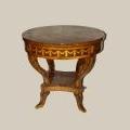 ampiir stiilis valmistatud, koopia laud, intarsia tehnikas. 20. sajandi lõpp.