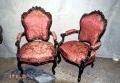 pähklipuust restaureeritud uus, neo rokokoo tugitooli 19.sajandi teine pool.