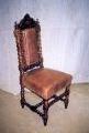 restaureeritud, tammepuust  uus, neo barokk  vindi, köissammastega  tool  19.sajandi teisest poolest