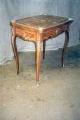 restaureeritud, roosipuu vineeriga intarsia tehnikas, kullatud pronks panustega ( kaunistustega)  laud 19.sajandi teisest poolest.