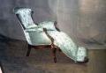 restaureeritud, haruldane pähklipuidust  uus, neo rokokoo  väljaulatuva jalatoega tugitool 19.sajandi teisest poolest.