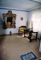 restaureeritud uus, neo ampiir laud, tugitool, kullatud peegliraam.