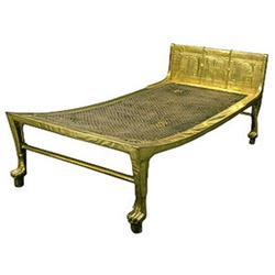 Egiptlaste punutud põhjaga voodi
