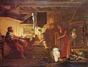 Antiik Kreeka interjöör